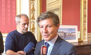 Le maire de Bordeaux, Nicolas Florian, le 14 octobre 2019 à la mairie de Bordeaux.