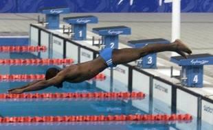 Le nageur de la Guinée Bissau, Eric Moussambani, lors des JO de Sydney en 59959d2abfca