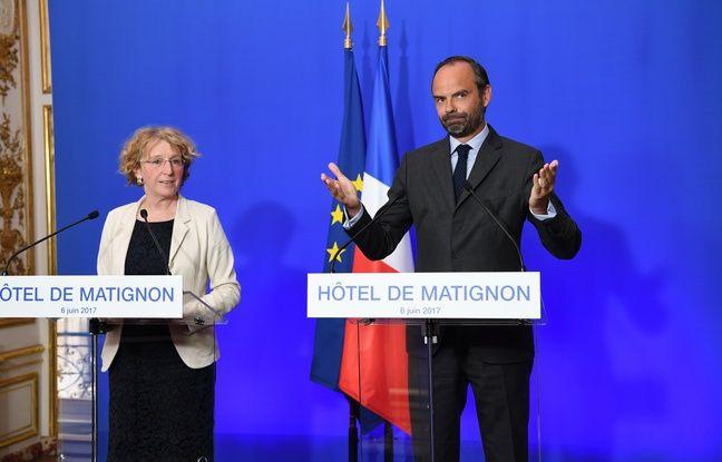 Le Premier ministre Edouard Philippe et la ministre du Travail Muriel Pénicaud ont dévoilé la feuille de route du gouvernement pour mener la réforme du travail, le 6 juin à Matignon, à Paris.