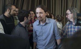 Pablo Iglesias, le leader du parti Podemos, à Madrid, en Espagne, le 30 mai 2014.