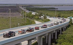 Les habitants du sud de la Floride évacuent vers le nord le 6 septembre 2017 alors qu'Irma s'approche des côtes américaines.