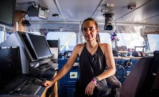 Carola Rackete sur le Sea Watch 3, le 27 juin 2019.