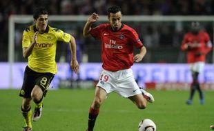 Le milieu de terrain parisien, Nenê, lors d'un match d'Europa Ligue du PSG face au Borussia Dortmund, le 4 novrembre 2010.
