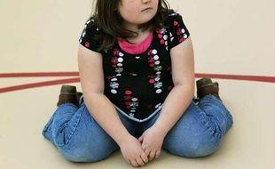 Un enfant en surpoids lors d'un cours de gym, le 13 novembre 2010, à Aurora, dans le Colorado.