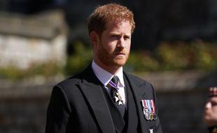 Le prince Harry à l'enterrement de son grand-père, le prince Philip