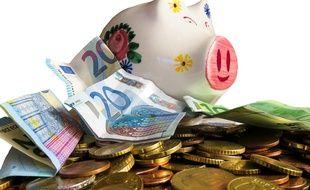Illustration cagnotte, euros, argent