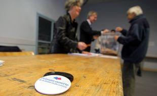 Le bureau de vote Liberté à Rennes, ici au second tour de la primaire de la droite et du centre.