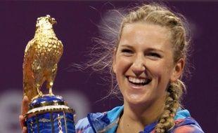 La Bélarusse Victoria Azarenka, vainqueur du tournoi de Doha, dimanche, a accentué son avance en tête du classement féminin WTA publié lundi et devance désormais sa dauphine, la Russe Maria Sharapova, de 1580 points.