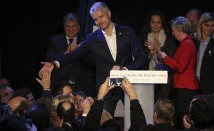 Laurent Wauquiez, élu président du parti Les Républicains, le 10 décembre 2017 à Paris.