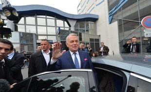 NANTES, 01/04/2014 Retour de Jean Marc Ayrault, premier ministre à la gare de Nantes après son éviction de Matignon