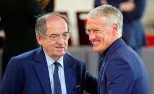 Le président de la FFF Noël Le Graët et le sélectionneur Didier Deschamps lors du match Turquie-France, le 8 juin 2019.