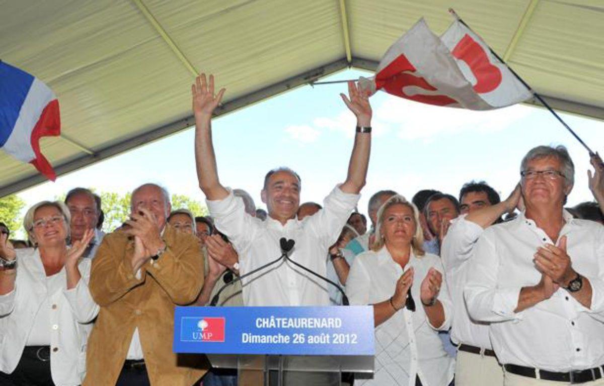 Jean-FrançoisCopé à Chateaurenard où il a officialisé sa candidature à la présidence de l'UMP, le 26 août 2012. – GERARD JULIEN / AFP