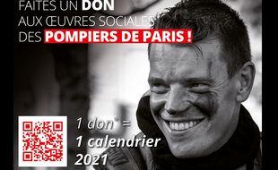 Le calendrier 2021 des sapeurs pompiers de Paris.