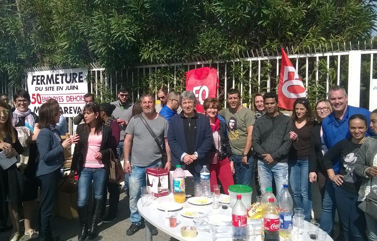 Les salariés d'Aerofarm lors de leur grève – Claude Frentzel