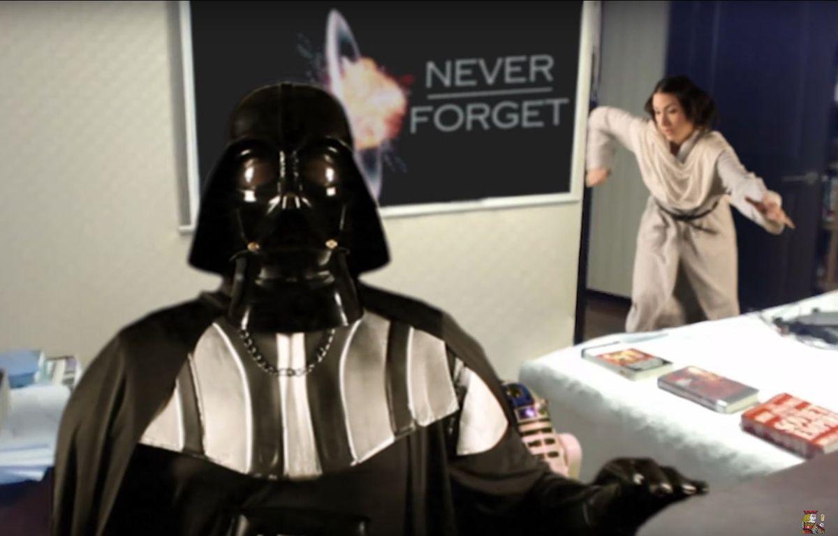 La parodie de l'interview à la BBC version Star Wars a été vue plus de 700.000 fois. – Capture Youtube
