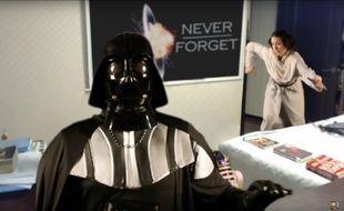 La parodie de l'interview à la BBC version Star Wars a été vue plus de 700.000 fois.