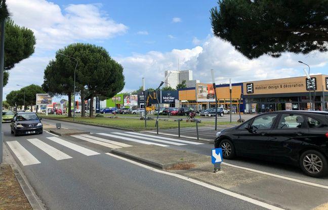 Une portion de la route de Vannes, à Saint-Herblain.
