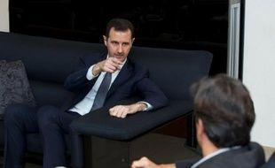 Bachar al-Assad s'entretient avec le journaliste français Georges Malbrunot, le 2 septembre 2013 à Damas