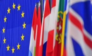 Illustration de drapeaux européens.