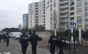 Lancement de la police de sécurité du quotidien dans le quartier Bordeaux Maritime, ici à Bacalan, le 28 février 2018.