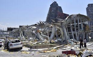 Les conséquences des explosions survenues à Beyrouth mardi