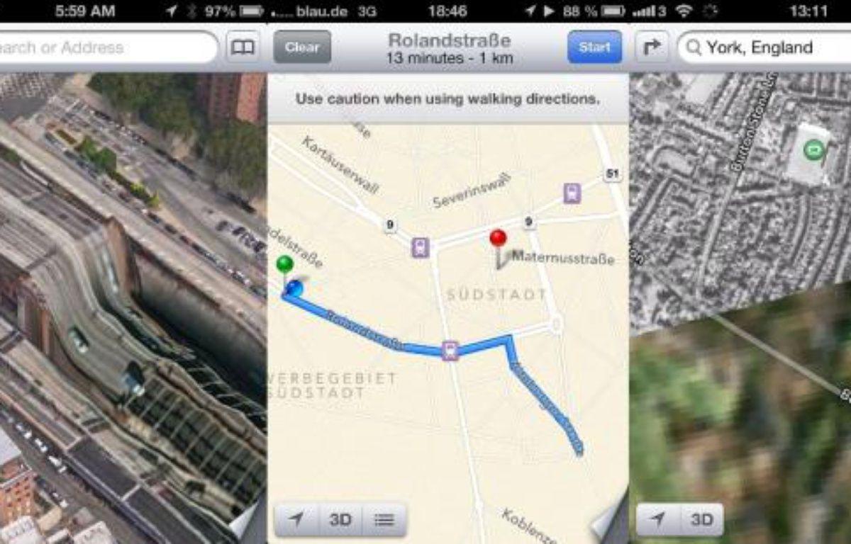 Des erreurs et des bugs du service Maps d'Apple qui remplace Google Maps sur iOS 6. – theamazingios6maps.tumblr.com