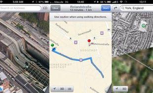 Des erreurs et des bugs du service Maps d'Apple qui remplace Google Maps sur iOS 6.