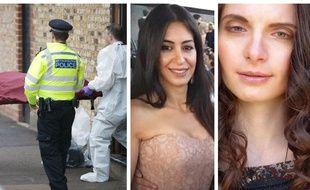 Sabrina Kouider ( au centre) est accusée d'avoir tué sa fille au pair, Sophie Lionnet à Londres, en septembre 2017.
