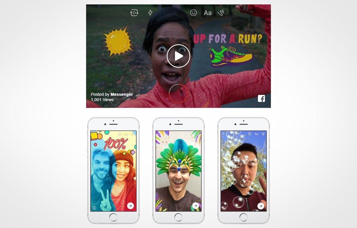 Messenger Day permet de partager sa journée en mode zapping avec ses amis. – FACEBOOK