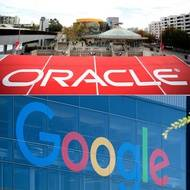 Illustration de la lutte entre Oracle et Google.