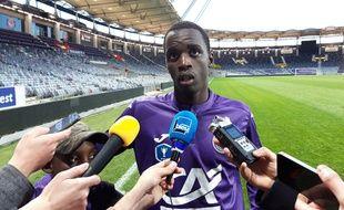 Moussa Diarra, le capitaine des U19 du TFC, après la qualification pour la finale de la Coupe Gambardella, le 7 avril 2019.