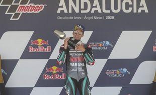 Fabio Quartararo remporte le GP de Catalogne, le 27 septembre 2020.