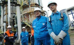 La raffinerie Petroplus de Petit-Couronne (Seine-Maritime)