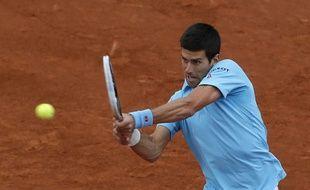 Novak Djokovic le 26 mai 2014 à Roland-Garros.