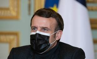 Emmanuel Macron, à l'Elysée le 8 février 2021.