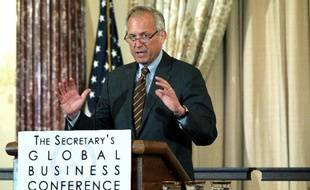 Le PDG de Boeing James McNerney au Département d'Etat, au Washington, le 21 février 2012
