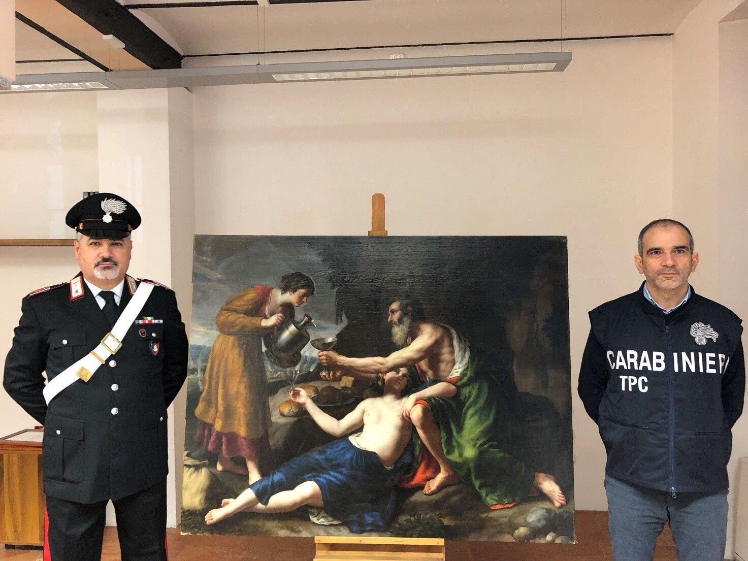 648x415 carabinier italien pose cote tableau poussin derobe 1944 nazis restitues proprietaires mars 2021