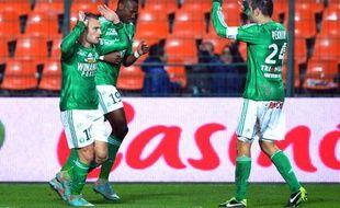 Les joueurs stéphanois lors de la victoire contre le 11 janvier 2013 contre Toulouse à Saint-Etienne.