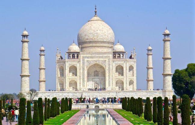 Vue du Taj Mahal, en Inde