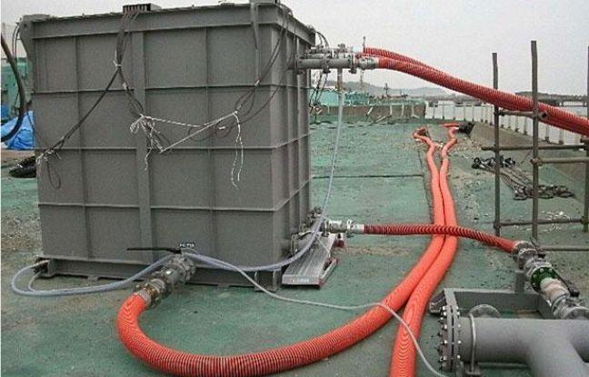 Le système de retraitement des eaux radioactives de Fukushima, le 1er juin 2011.