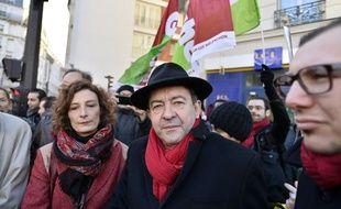 Jean-Luc Mélenchon était dans le cortège samedi 30 novembre de la marche contre le racisme à Paris