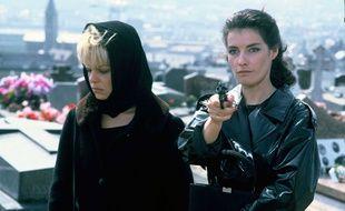 L'actrice Patricia Millardet en 1985 sur le tournage du téléfilm