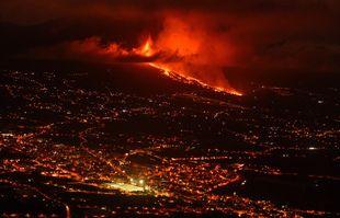 L'éruption volcanique d'El Paso, à La Palma, aux îles Canaries, le 19 septembre 2021.