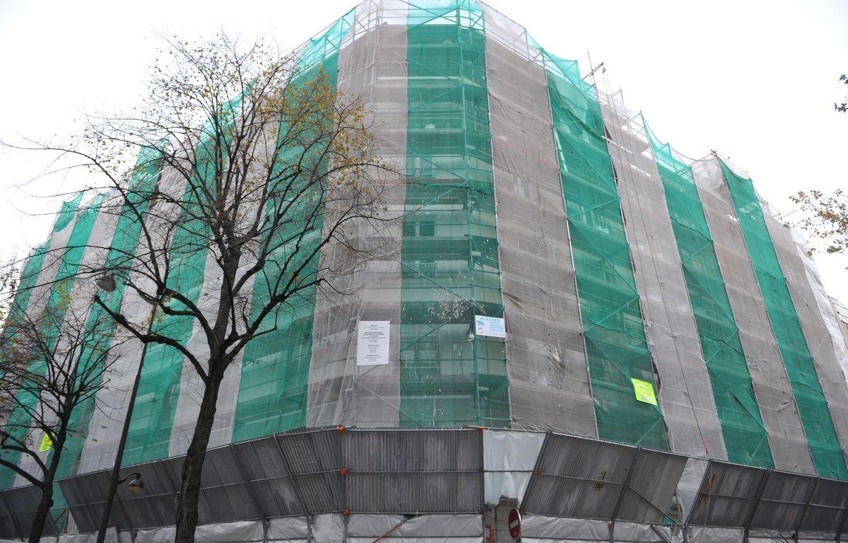 Paris, 16 novembre 2010. Illustration d'une rénovation de murs et de façades d'une copropriété – A. GELEBART / 20 MINUTES
