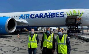 Jean-Marc Aubineau, PDG de Prolaser, Jean-Paul Dubreuil, actionnaire d'Air Caraïbes, et Bruno Retailleau, sénateur de Vendée.