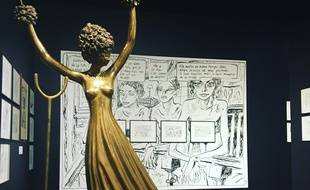 Vue de l'exposition Joann Sfar à l'Espace Dali, à Paris