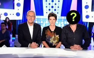Laurent Ruquier et Christine Angot sur le plateau d'«On n'est pas couché» sur France 2.