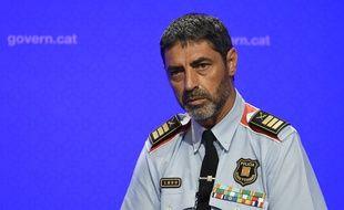 Le chef de la police de Catalogne, Josep Lluis Trapero, lors d'une conférence de presse le 20 août 2017.