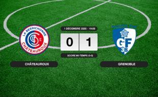 Ligue 2, 13ème journée: 0-1 pour Grenoble contre Châteauroux au stade Gaston-Petit