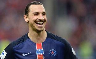 Zlatan Ibrahimovic après PSG-Auxerre le 30 mai 2015.